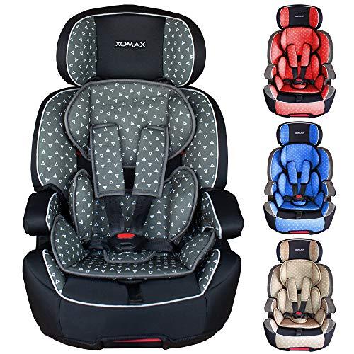 XOMAX XL-518 Seggiolino per Bambini con ISOFIX I Che cresce con Te I 9-36 kg, 1-12 Anni, Gruppo 1/2/3 I Cintura a 5 Punti e a 3 Punti I...