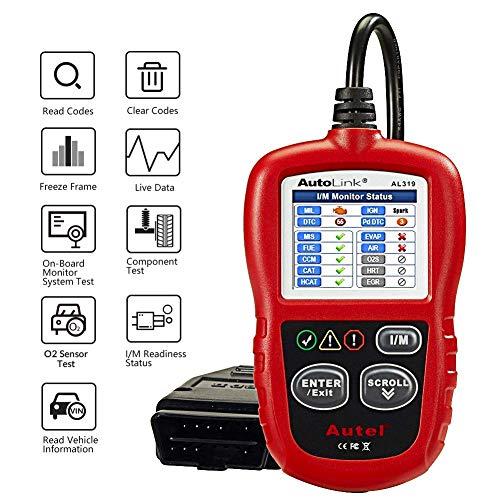Autel AL319 AutoLink OBD2/EOBD Scanner Outil de Diagnostic de Voiture avec Lecture et Effacement des Codes, vérification de l'état des émissions