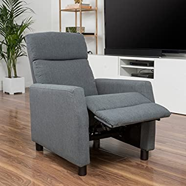 Great Deal Furniture Tahiry Grey Fabric Recliner Club Chair