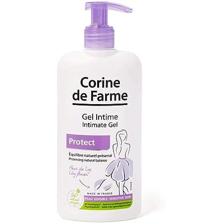 Corine de Farme Gel Intime Protect - Gel de Toilette Intime Hypoallergénique et sans Sulfate à la Fleur de Lys - Testé sous Contrôle Pharmaceutique, Dermatologique et Gynécologique - 250 ml