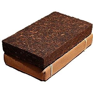 (普洱熟茶)Yunnan Pu'er tea brick,fermented tea since 2009 organic black tea Pu'er fermented tea Pu-erh Tea 500g pakage by traditional method with bamboo leaves pu er tea
