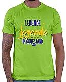 Hariz – Camiseta para hombre, diseño con texto en inglés 'Lebende Legende Im Ruhestand jubilación jubilación Plus tarjeta de regalo verde claro XXXL