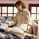 B/H Cuerpo Entero de Manga Larga para Mujer,Pijamas de Invierno de algodón de Talla Grande para Mujer, 33271_XL,Pijama de Manga Larga con para Mujer