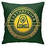 QWEQW Xcphmy Atla Earthbender Symbol Sofa Bed Patio Durable Pillowcase, Soft and Comfortable Texture, Bring Vitality to Your Home! 18x18in
