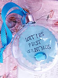 Personalized ornament gift idea for new mom - great for push presents!