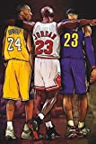 Jordan, Kobe, Lebron - Big Three - NBA Basketball Poster (24 x 36 inches)