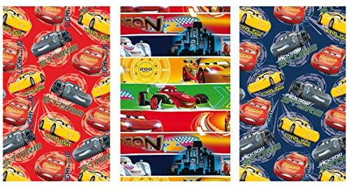Disney 3 Rollen im Set Geschenkpapier 200 x 70 cm Geschenkverpackung (Cars)