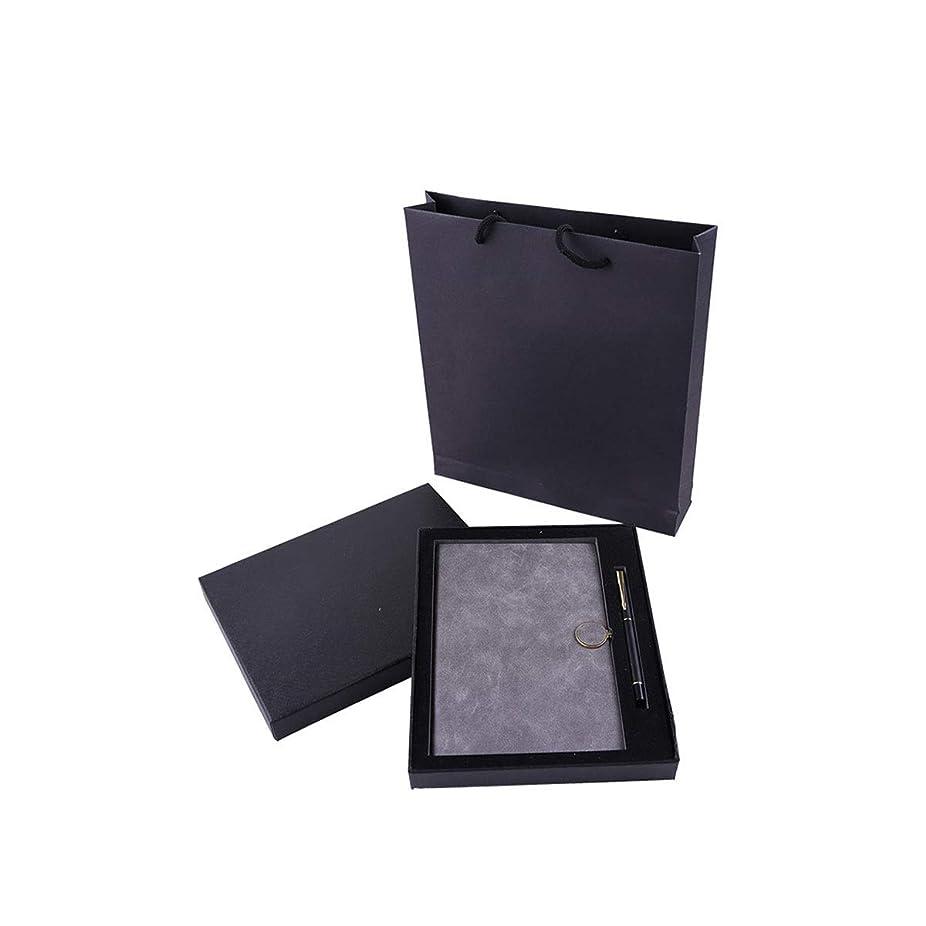 Muziwenju ギフトノートとペンセットギフト用の箱、ノートブックセット、ホリデーギフト、クリエイティブビジネス事務用品、ノートブック、ポータブル、厚手のメモ帳、複数の色 高品質の製品 7 (Color : Gray)