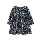 DAY8 Fille 3 à 11 Ans Vetement Robe Princesse a la mode Hiver Robe de Soirée Fille ete pas cher Robe Enfant Fille Fashion Fleur...