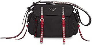 Luxury Fashion | Prada Womens 1BD118VTBO2BYBF0D9 Black Messenger Bag | Fall Winter 19