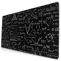 マウスパッド 大型 学校 数学 黒板 公式 個性 ゲーミング デスクマット かわいい キーボードパッド 防水性 耐久性 滑り止め 光学式マウス対応 疲労軽減 多機能 超大判 40cm×75cm