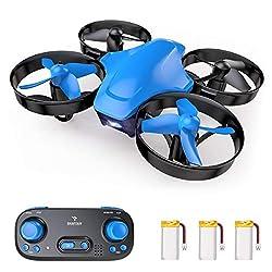 SNAPTAIN SP350 Mini Drohne, Quadrocopter mit 3 Akkus für 21 Minuten Flugzeit, RC Drone, Mini Helikopter mit Kopflos Modus, Throw'N Go, 3 Geschwindigkeitsmodi, Spielzeug Drohne für Kinder und Anfänger