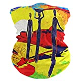 QMIN Diadema de pintura para mujer africana y puesta del sol bandana para la cara, protección del sol, máscara para el cuello, bufanda mágica pasamontañas para mujeres, hombres, niños y niñas