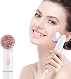 Hetian Sonic Facial Cleansing Brush Exfoliating and Massaging Deep Skin Care Tools Kit and Increase Face Skin Elasticity W...