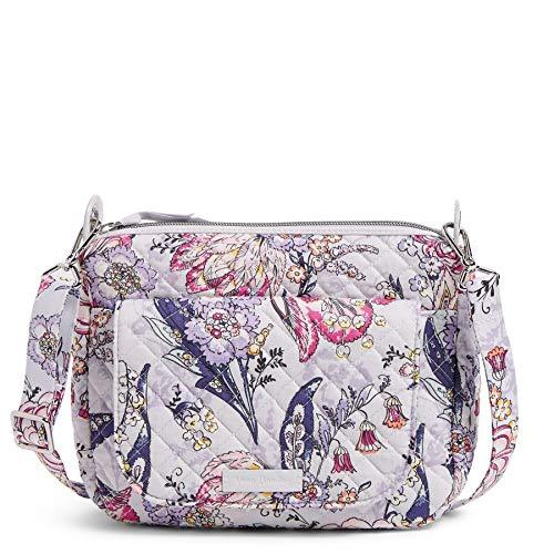 Vera Bradley Signature Cotton Carson Mini Shoulder Bag Crossbody Purse, Hummingbird Park