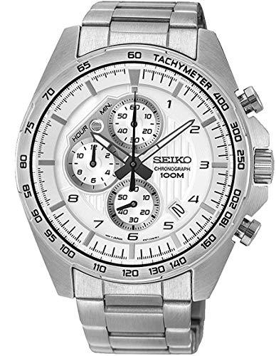 Lorus Herren Chronograph Quarz Uhr mit Edelstahl Armband SSB317P1