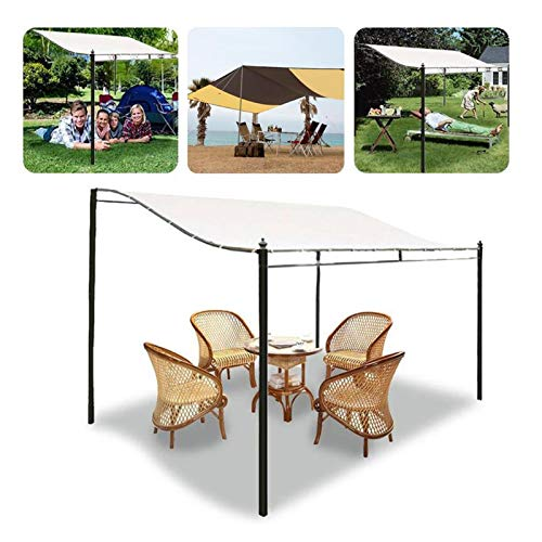 Yanchuan Shade tarpaulin 300D Canvas Waterproof Tent Top Roof Gazebos Garden Replacement Canopy Outdoor Awning Tent Shade Party (Size : 2.6x2.5m)