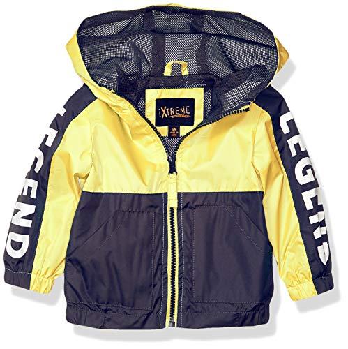 IXtreme Baby-Jungen Boys Outdoor Color Block Polar Fleece Lined Hooded Anorak, gelb, 18 Monate