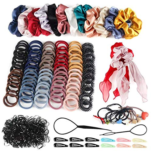 Hair Accessories for Girls, Variety Pack Scrunchies for Hair, Woman Elastic Hair Bands Hair Clips for Girls and Woman 748PCS