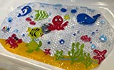 Scarlet Gem Bath and Shower Mat for Babies, Toddlers and Children – BPA, Phthalates and Lead Free - Durable Mildew and Mould Resistant PVC