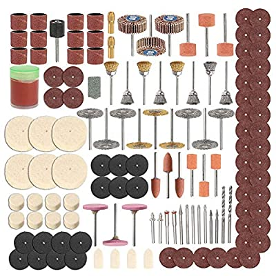 Rotary Tool Accessory Set, 350pcs Polishing Rotary Tool Abrasive Wheel Accessory Kit Buffing Wheels Cutting Discs DIY for Polishing, Carving, Cutting, Sanding and Grinding