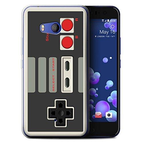 Hülle Für HTC U11 Spielkonsolen Klassisches Nintendo Design Transparent Dünn Flexibel Silikon Gel/TPU Schutz Handyhülle Case
