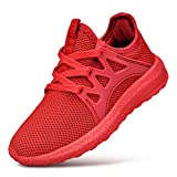 QANSI Boys Sneakers Lightweight Slip On Tennis Running Walking Shoes Casual Mesh Breathable Gym Athletic School Shoes 7 Big Kid
