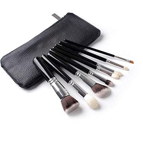 MEIMEIDA Kits de pinceaux à lèvres avec pinceau en cuir, 8pcs avec étui