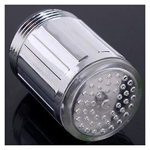 Rotable Ajustable Resplandor LED luz de Agua Corriente Grifo Grifo 3 Colores Cambio de Grifo Extender Extender Cocina Baño Accesorios Accesorios