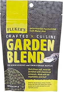 Fluker's New Garden Blend Reptile Food (6.75 oz.) Great Food For Turtles, Tortoise, Bearded Dragons, Geckos and any reptile that benefits from Veggies & Fruits. Fast Delivery!!!