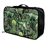 Qurbet Reisetaschen,Reisetasche, Tyrannosaurus Rex Pattern Overnight Carry On Luggage Waterproof Fashion Travel Bag Lightweight Suitcases