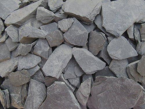 Doubleyou Geovlies & Baustoffe 1kg - 5kg - 10kg - 20kg Schieferbruch - Schieferplatten ca. 30mm - 80mm (1 kg.)