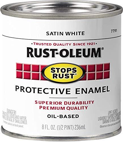 Rust-Oleum 7791730 Protective Enamel, 8-Ounce, Satin White