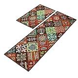 Küche Teppich Teppich Matte quadratische Teppich Rutschfester wasserdichter ölschutz (Color : 45 * 65+45 * 240)