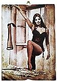 KUSTOM ART Cuadro de estilo vintage Sophia Loren de colección, impresión sobre madera