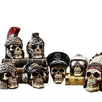 頭蓋骨頭像フィギュア装飾現実的な樹脂装飾デスク装飾ハロウィーン、装飾品、鮮やかな、樹脂材料、家、バー、カフェ,E