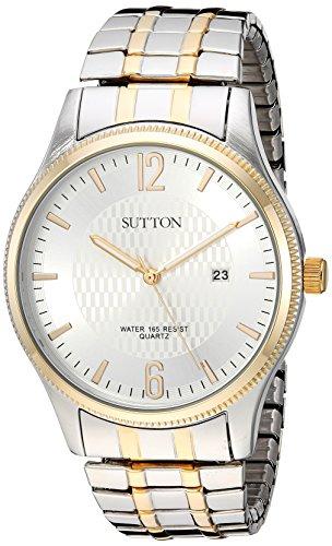 Sutton by Armitron SU/5007SVTT - Reloj de pulsera para hombre, con función de fecha, dos tonos