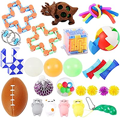 30Pack Sensory Toy Set,Fidget Toys, Decompression Toys, Squeeze Toys,Novelty Toys,Toys to Relieve Autism. by Voastvy