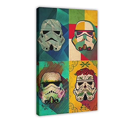 Ciencia ficción serie de películas Star Wars Muerte Squad Póster de lona decoración de dormitorio, paisaje, oficina, habitación, marco de regalo, 30 x 45 cm