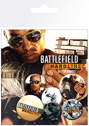 1art1 Battlefield Hardline, Soldados, Gaming, 4 X 25mm & 2 X 32mm Chapas Set De Chapas (15x10 cm) Y 1x Pegatina Sorpresa