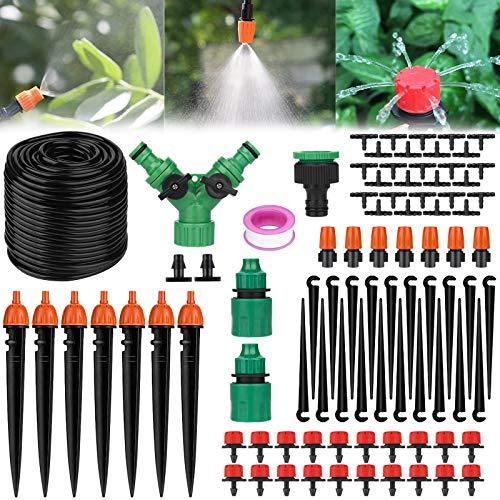 MUOIVG 40M Kit per Irrigazione a Goccia, Sistema Irrigazione, Kit di Micro Irrigazione Automatico Irrigazione Sistema,Set Irrigazione Impianto Goccia Regolabile per Paesaggio/Giardino/Piante