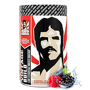 VINTAGE BUILD Post Workout BCAA Creatine L-Glutamine - The Essential 3-in-1 Muscle Building Recovery Powder for Men and Women  Fresh Berries  - Keto Friendly - 377 Grams - 30 Servings