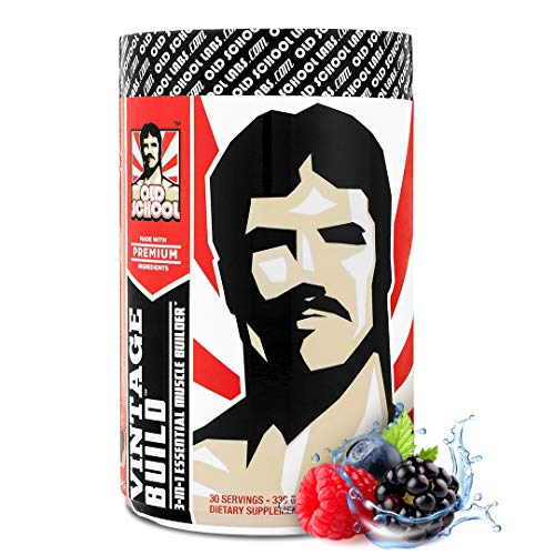 VINTAGE BUILD Post Workout BCAA, Creatine, L-Glutamine - The Essential 3-in-1 Muscle Building Recovery Powder for Men and Women (Fresh Berries) - Keto Friendly - 377 Grams - 30 Servings