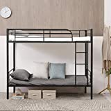 Giantex Metal Bunk Bed Twin Over Twin, Removable Ladder and Safety...