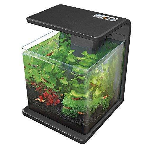 ICA E15N Nano Aquarium Biotop Deluxe Natur, zwart