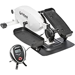 WORKS WITH MANY DESKS - FitDesk Elliptical features the lowest pedal rotation height available; only 8 inches; can work with desks as low as 25 inches SMOOTH & QUIET - Our FitDesk Under Desk Ellipticals 8 position magnetic resistance and balanced fly...