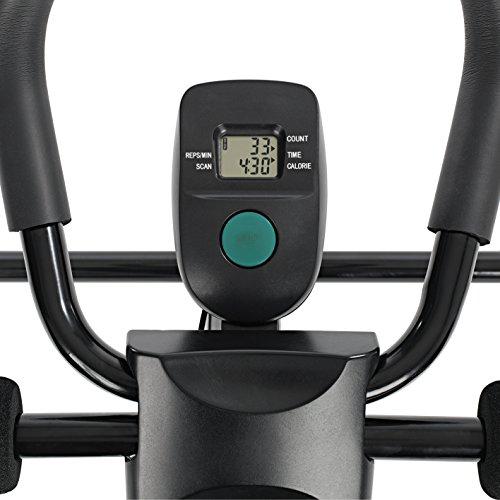 VITALmaxx Entraîneurs d'ab 'Fitmaxx 5' pliable | entraîneur pour le dos, l'abdomen, les bras et les jambes en un seul appareil avec ordinateur de fitness | rangement peu encombrant