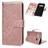 Beaulife Étui portefeuille en cuir PU avec béquille magnétique pour Samsung Galaxy S10 Plus