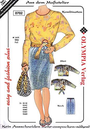 Olympia Creativ-Schnittmuster Shirt und Rock Größe 36-38 (0702)