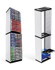 DaMohony Wieża do gier dla PS5, PlayStation 5 stojak, stojaki na 36 gier PS5 lub Blu Ray